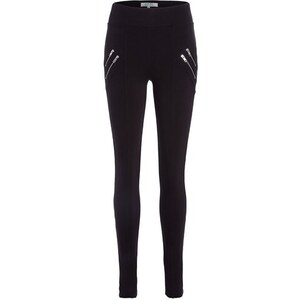 Jegging coutures zips Noir Polyamide - Femme Taille 34 - Cache Cache