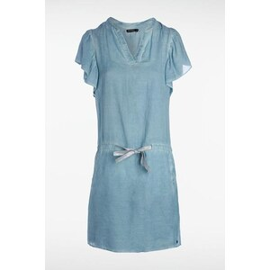 Robe manches empire effet dirty oil Bleu Coton - Femme Taille L - Bonobo