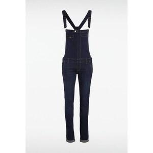 Salopette femme zip côté et revers Bleu Coton - Femme Taille 34 - Bonobo