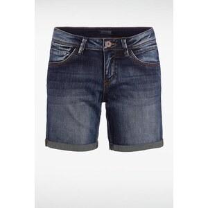 Short femme jean revers bas Bleu Polyester - Femme Taille 34 - Bonobo