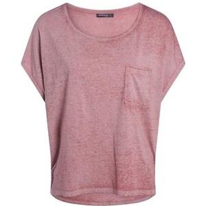 T-shirt femme loose bas liquette Rose Polyester - Femme Taille L - Bonobo