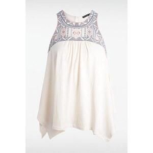 T-shirt femme motif ethnique Beige Coton - Femme Taille L - Bonobo