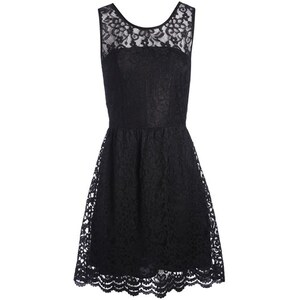 Robe dentelle motif floral Noir Polyester - Femme Taille 36 - Cache Cache