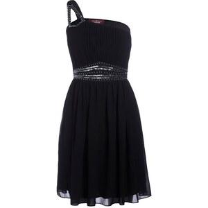 Robe fluide 1 bretelle bijoux Noir Polyester - Femme Taille 36 - Cache Cache