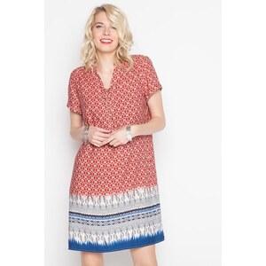 Robe imprimée avec lien col Orange Viscose - Femme Taille 36 - Cache Cache