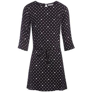 Robe imprimée col rond Noir Viscose - Femme Taille 36 - Cache Cache