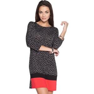 Robe imprimée petits motifs et contraste Noir Elasthanne - Femme Taille 36 - Cache Cache