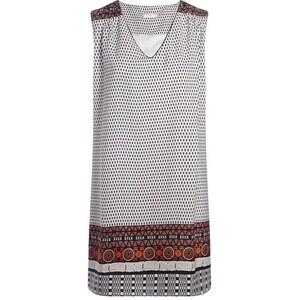 Robe motif géométrique détails colorés Marron Polyester - Femme Taille 38 - Cache Cache