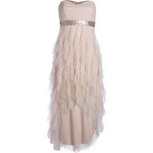 Robe bustier pailletée en tulle Rose Polyester - Femme Taille 40 - Bréal