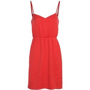 Robe plissée fines bretelles Rouge Polyester - Femme Taille 40 - Cache Cache