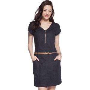 Robe style saharienne avec zip Gris Coton - Femme Taille 40 - Cache Cache