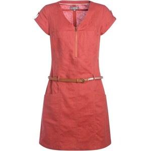 Robe style saharienne avec zip Orange Coton - Femme Taille 40 - Cache Cache