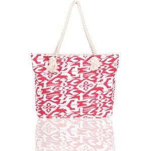 Sac imprimé ikat et cordes Rouge Polyester - Femme Taille T.U - Cache Cache