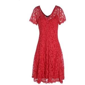 Robe en dentelle Rouge Coton - Femme Taille 38 - Bréal