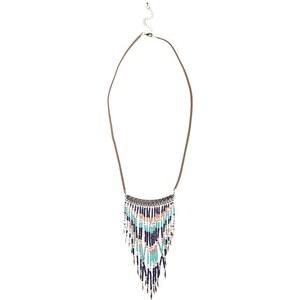 Sautoir perles style ethnique Multicouleur Metal - Femme Taille T.U - Cache Cache