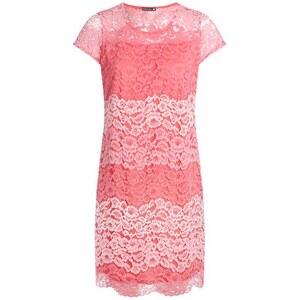 Robe droite en dentelle Rose Polyester - Femme Taille 40 - Bréal