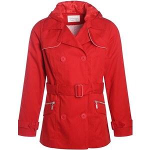 Trench court à capuche amovible Rouge Coton - Femme Taille 4 - Cache Cache