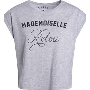 T-shirt imprimé message humoristique Gris Coton - Femme Taille 4 - Cache Cache