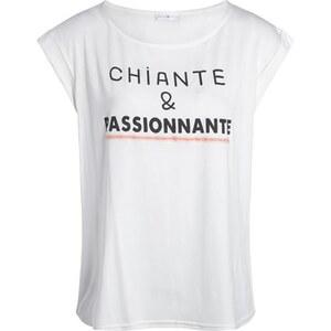 T-shirt fluide print message Beige Acetate - Femme Taille 0 - Cache Cache