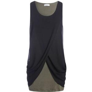 Tunique bicolore effet drapé devant Noir Elasthanne - Femme Taille 3 - Cache Cache