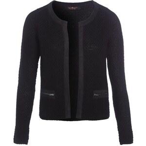 Veste tailleur maille moulinée Noir Fil metallise - Femme Taille 0 - Cache Cache