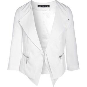 Veste crêpe zips double-col Beige Polyester - Femme Taille 46 - Bréal