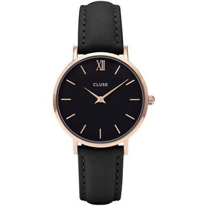 Montre Cluse Minuit - Rose Gold Black/Black