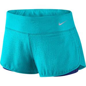 Nike Damen Laufshorts 2in1 Rival Jaquard türkis