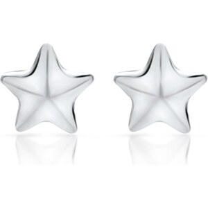 Unique Jewelry Sternenohrstecker aus 925 Silber - SE0271