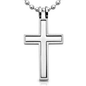 Unique Jewelry Edelstahl Kreuz Anhänger inkl. Kette P5063