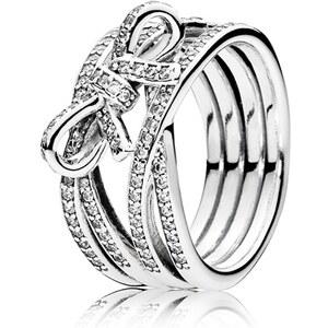 Pandora Ring Schleifen-Optik 925er Silber 190995CZ