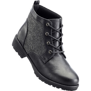bpc bonprix collection Bottines à lacets noir chaussures & accessoires - bonprix