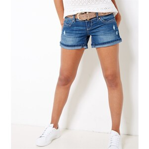 Camaïeu Short ceinturé en denim