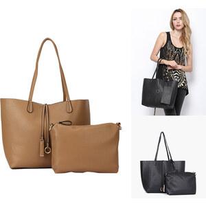 Lesara Sac fourre-tout en imitation cuir avec sacoches supplémentaires