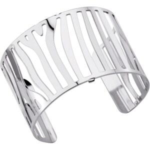 Les Georgettes Bracelet Large Zèbre métal argenté Femme 70261591600000
