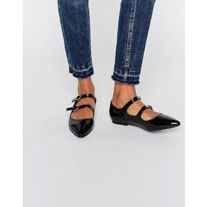 Daisy Street - Chaussures pointues à brides muliples - Noir verni - Noir