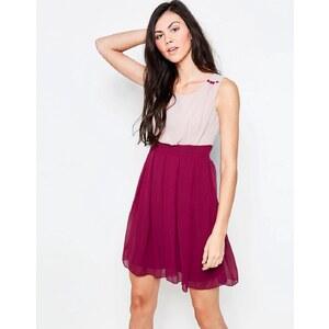 Jasmine - Robe patineuse color block - Rouge