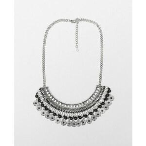 Collier plastron gris argenté, Femme, Taille 00 -PIMKIE- MODE FEMME