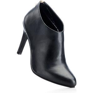 BODYFLIRT Low-boots noir avec 10 cm haut talonchaussures & accessoires - bonprix