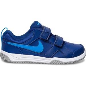 Basket Nike scratch cuir bleue garçon