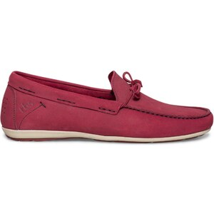 Mocassin cuir rouge TBS