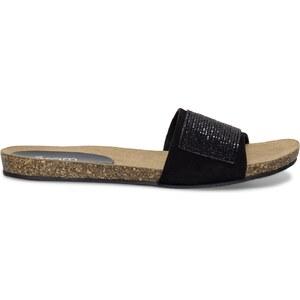 Eram Sandale croûte de cuir strass noire