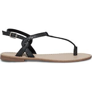 Eram Sandale plate croûte de cuir noire
