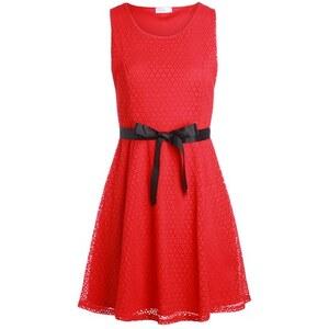 Robe sans manches dentelles Rouge Coton - Femme Taille 36 - Cache Cache