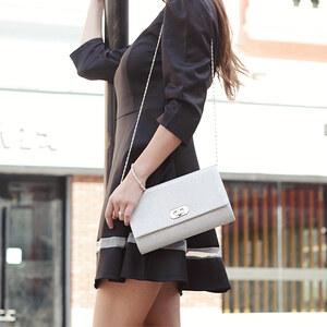 Lesara Kleid mit Tellerrock - Schwarz - XL