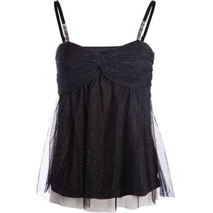 Bustier habillé bretelles strass Noir Polyester - Femme Taille 1 - Cache Cache