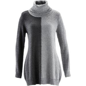 bpc selection Rollkragenpullover langarm in grau für Damen von bonprix