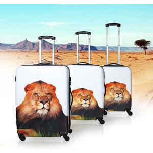 Lesara Lot de 3 valises à roulettes motif lion
