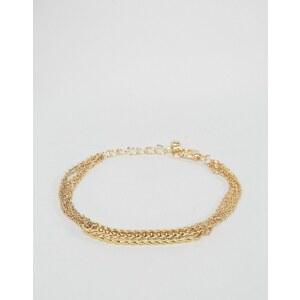 ASOS - Bracelet chaîne tressée - Doré