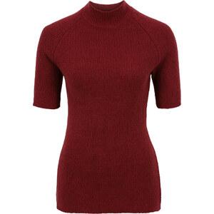 BODYFLIRT Pullover mit Stehkragen halber Arm in rot für Damen von bonprix